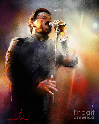 Toto Painting - Bobby Kimball From Toto 01 by Miki De Goodaboom