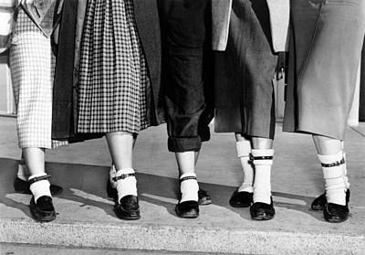 1950s Fashion Photograph - Bobby Socks, Ankle High, Often Thick Or by Everett