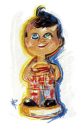 Mixed Media - Bob's Big Boy Bobble Head by Russell Pierce