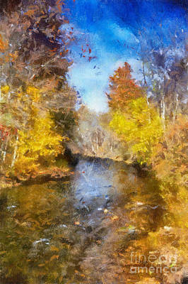 Digital Art - Bob's Creek From The Bridge by Lois Bryan