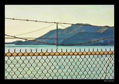 Photograph - Bobwire Goldon Gate by Blake Richards