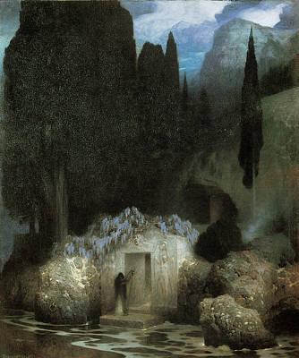 Bocklin's Tomb Art Print by Ferdinand Keller