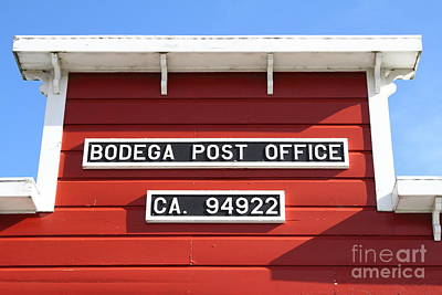 Postoffices Photograph - Bodega Post Office . Bodega Bay . Town Of Bodega . California . 7d12465 by Wingsdomain Art and Photography