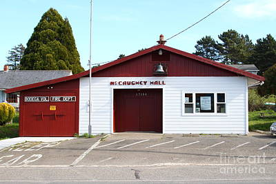 Horror Movies Photograph - Bodega Volunteer Fire Department . Bodega Bay . Town Of Bodega . California . 7d12450 by Wingsdomain Art and Photography