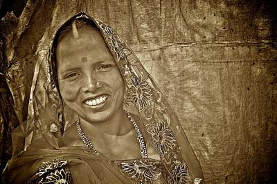 Photograph - Bodhgaya Bride by Valerie Rosen