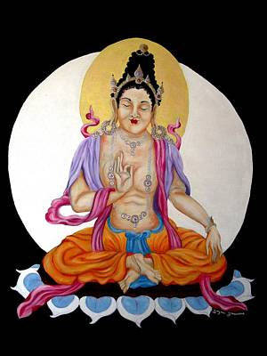 Religious Mixed Media - Bodhisattva II by Suzan  Sommers