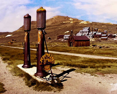 Eco-tourism Painting - Bodie Ca Ghost Town by Bob and Nadine Johnston