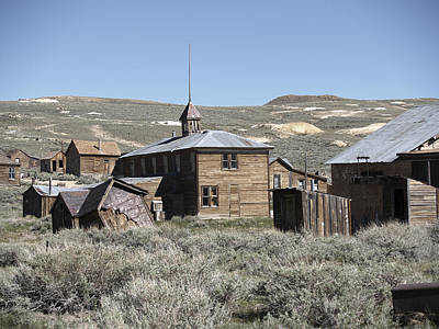 Bodie Cabins 2 Art Print by Philip Tolok