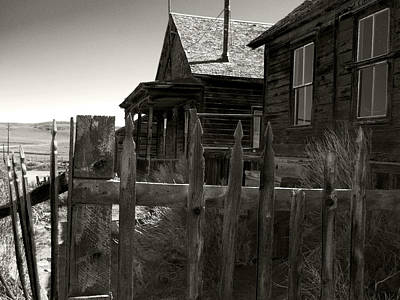 Bodie Cabins 4 Art Print by Philip Tolok