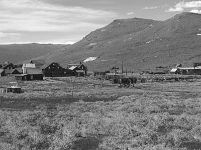 Bodie Cabins Art Print by Philip Tolok