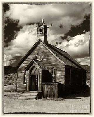 Photograph - Bodie Church Sepia by Jim And Emily Bush