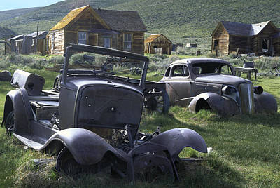 Photograph - Bodie Classic Cars by John Farley