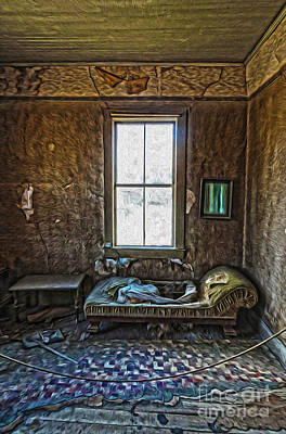 Painting - Bodie Ghost Town - Old House 04 by Gregory Dyer