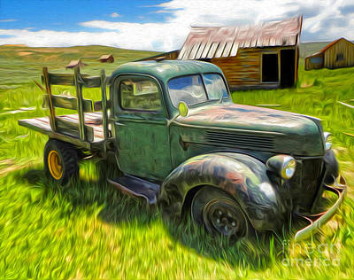 Painting - Bodie Ghost Town - Old Truck 01 by Gregory Dyer
