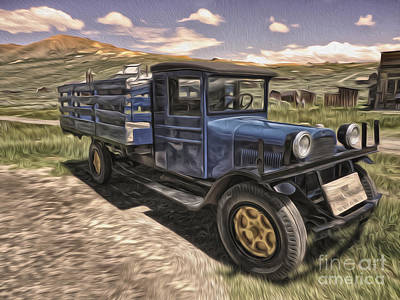 Painting - Bodie Ghost Town - Old Truck 03 by Gregory Dyer