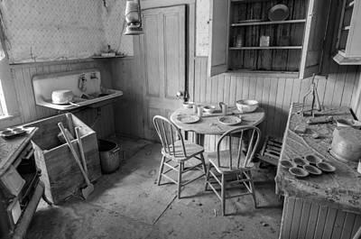 Gold Mine Photograph - Bodie Ghost Town Kitchen by Scott McGuire