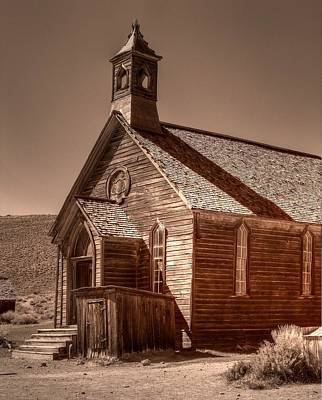 Gold Rush Photograph - Bodie State Historic Park California Church by Scott McGuire
