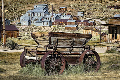 Wagon Wheels Photograph - Bodie Wagon by Kelley King