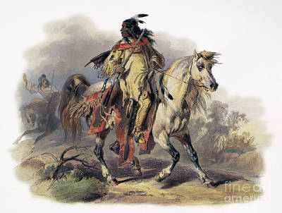 Bodmer: Blackfoot Horseman Art Print by Granger