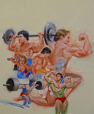 Painting - Body Building by Cliff Spohn