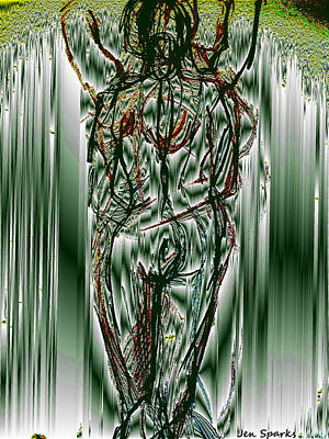Mixed Media - Body In Motion by Jen Sparks