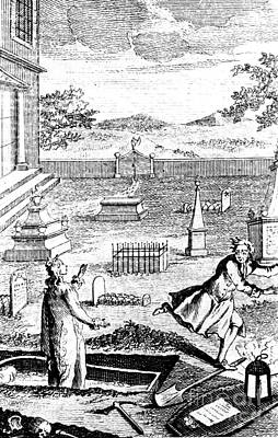 Body Snatching, 1746 Art Print