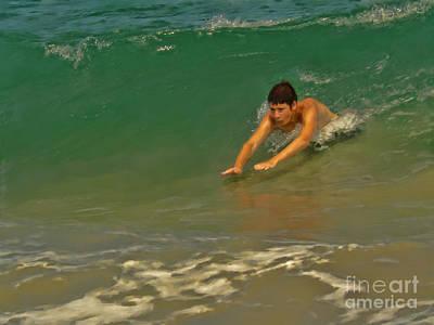 Body Surfing Photograph - Body Surfing by Jeff Breiman
