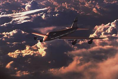 Boeing 747 Art Print by Mike Miller