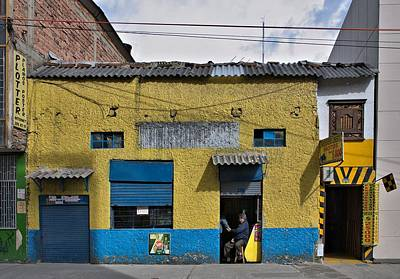 Print featuring the photograph Bogota Shop by Steven Richman