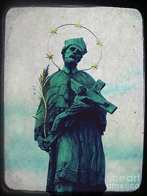 Teal Mixed Media - Bohemian Saint by Linda Woods