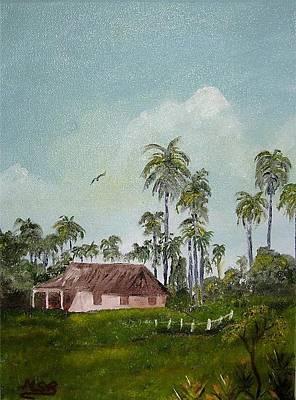 Bohio Y Palmeras Art Print by Maria Soto Robbins