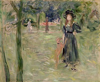Inv Painting - Bois De Boulogne by Berthe Morisot