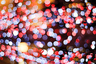 Light Paint Photograph - Bokeh by Setsiri Silapasuwanchai