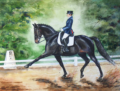 Dressage Art Painting - Bold by Kristine Plum