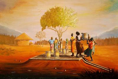 Malawi Painting - Bolehole by Nisty Wizy