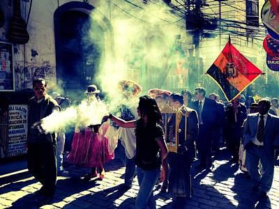 Bolivia Celebrations   Art Print by Jade Sayers