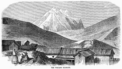 Photograph - Bolivia: Volcano, 1854 by Granger