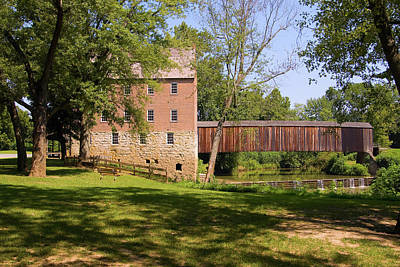 Photograph - Bollinger Mill And Cover Bridge by Steve Stuller