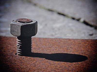 Nuts And Bolts Photograph - Bolt And Shadow by Odd Jeppesen