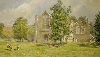 Monastery Painting - Bolton Abbey  by Tim Scott Bolton