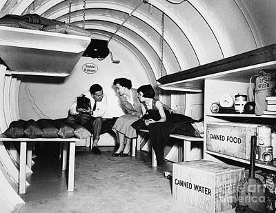 Photograph - Bomb Shelter, 1955 by Granger