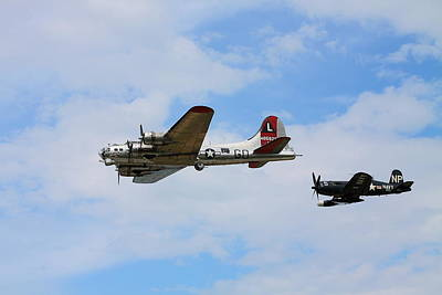 Photograph - Bomber Escort by Kevin Schrader