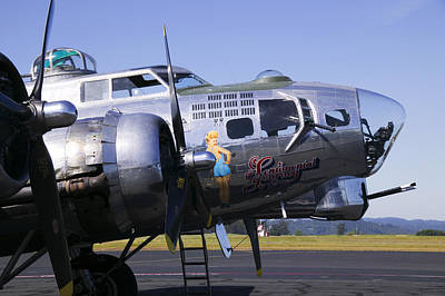 Machine Photograph - Bomber Sentimental Journey by Garry Gay