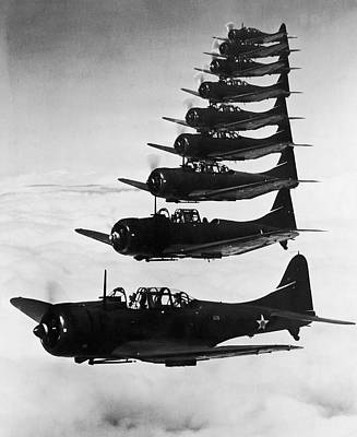 Bombers In Flight Art Print by Archive Photos
