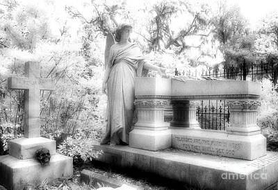 Savannah Infrared Photograph - Bonaventure Angel by Jeff Holbrook
