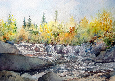 Painting - Bond Falls Up Mi by Ken Marsden