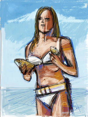 Mixed Media - Bond Girl by Russell Pierce