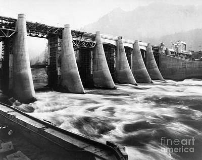Photograph - Bonneville Dam, 1936 by Granger