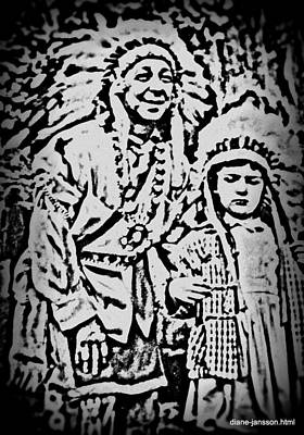 Photograph - Bonnie And The Indian by Diane montana Jansson