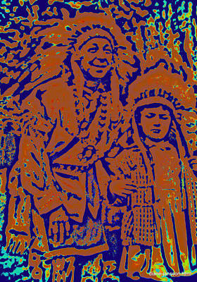 Photograph - bonnie and the indian III by Diane montana Jansson